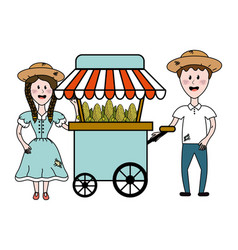 Isolated food cart design vector