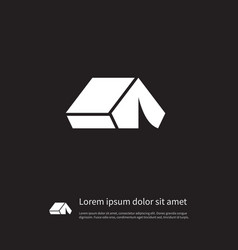 isolated outdoor icon tent element can be vector image