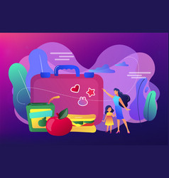 Kids lunch box concept vector