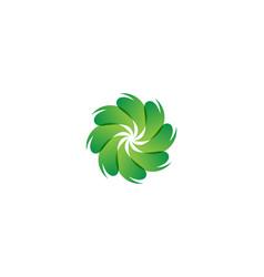 leaf flower patterns logo nature symbol vector image