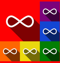 limitless symbol set of vector image