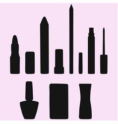 Lipstick and nail polish vector