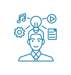 marketing activity linear icon concept marketing vector image