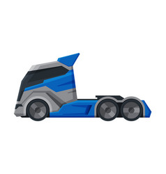 modern truck delivery and shipping cargo vehicle vector image