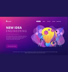New idea engineering concept landing page vector