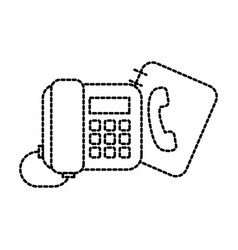 office telephone and address book contacs vector image