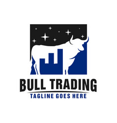 online forex trading business logo vector image