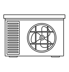 Outdoor air unit conditioner icon outline style vector