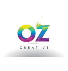 oz o z colorful letter origami triangles design vector image