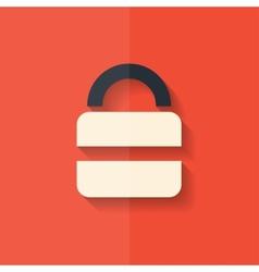 Padlock web icon Flat design vector image