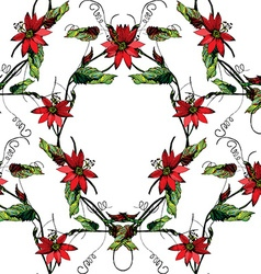 Passiflora frame pattern2 vector image