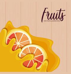 pattern of fresh oranges sliced fruit vector image