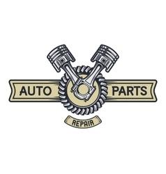 Repair service emblem signboard vector