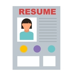 Resume icon vector image