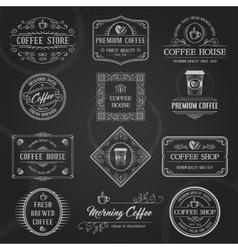 Retro Coffee Labels Black vector