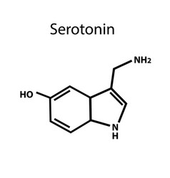 serotonin is a hormone chemical formula vector image