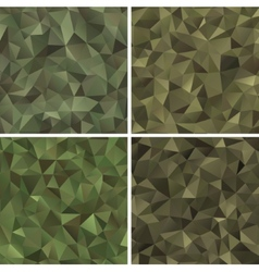 Set abstract military camouflage vector