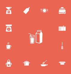Set of 13 editable restaurant icons includes vector