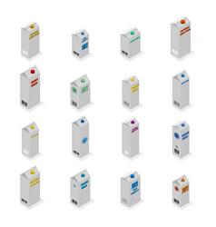 set of 3d cardboard packages vector image