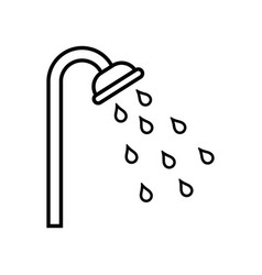 shower icon design on withe vector image