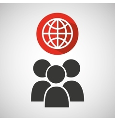social media group global design vector image