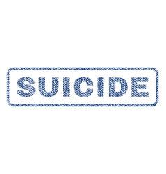 Suicide textile stamp vector