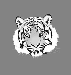 The tiger animal head icon vector