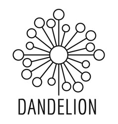 Torn dandelion logo icon simple style vector