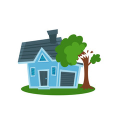 tree falling on a house property insurance vector image