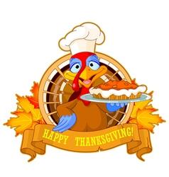 Turkey Holds Pie vector