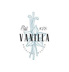 vanilla logo original design estd 1978 culinary vector image