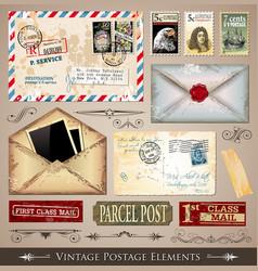 vintage postmarks vector image