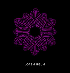 violet lotus abstract construction vector image