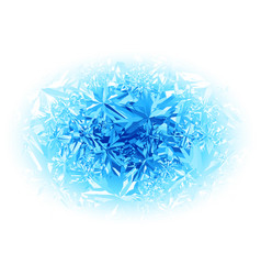 winter blue frost pattern on white background vector image