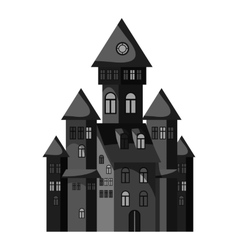 Witch castle icon gray monochrome style vector image