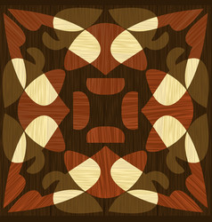Wooden inlay light and dark wood patterns wooden vector