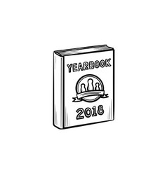 Yearbook hand drawn sketch icon vector