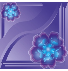 Background with flower vector image vector image