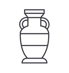 interior vase line icon sign vector image vector image