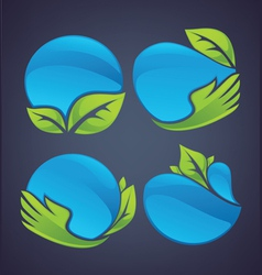 nature spheres vector image vector image