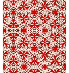 Seamless white decorative pattern vector