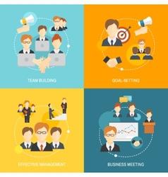 Teamwork icons flat vector image vector image