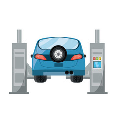 car lift machine icon vector image