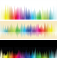 Different colorful background vector image