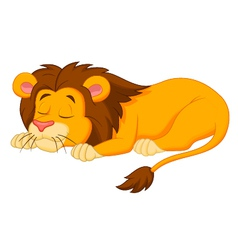 Lion cartoon sleeping vector image