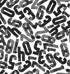 Seamless pattern with numbers textured with print vector image vector image