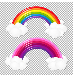 colorful rainbow set vector image
