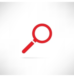 Find Icon Red vector image vector image