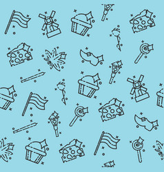 holland concept pattern vector image