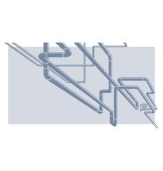 Industrial pipeline construction vector image
